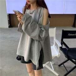 IndiGirl - Cold Shoulder Sweatshirt