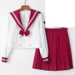 Aiyiruo - Sailor Collar School Uniform Costume