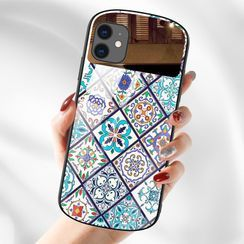 Casei Colour - 印花鏡子拼接手機保護套 - iPhone 11, 11 Pro, 11 Pro Max