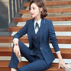 Princess Min(プリンセスミン) - Striped Blazer / Dress Pants / Mini Skirt / Long-Sleeve Blouse / Set