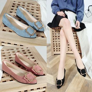Belbie - Buckled Pointy Flats