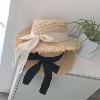 Carmilla(カーミラ) - Ribbon Straw Sun Hat