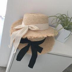 Carmilla - Ribbon Straw Sun Hat