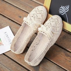 Putcho - Lace Perforated Slip-Ons