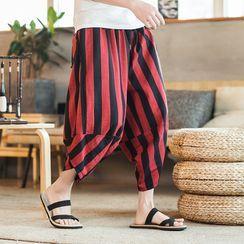 Bay Go Mall - Striped Harem Pants