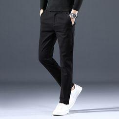 Meiki - Plain Tapered Pants