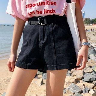 Whoosh - High Waist Denim Shorts