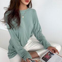 NANING9 - Drop-Shoulder Sleek T-Shirt