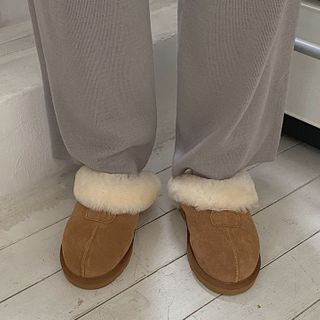MERONGSHOP - Wool-Lined Home Slippers