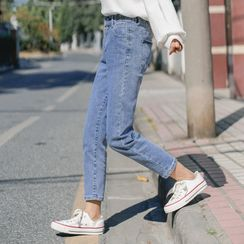 Malsoli - Cropped Straight-Cut Jeans