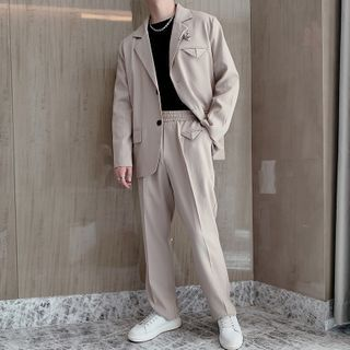 Andrei - Suit Set: Single Breasted Blazer + Dress Pants
