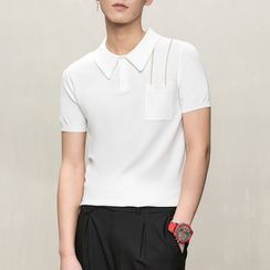 Orizzon - Knit Short-Sleeve Polo Shirt