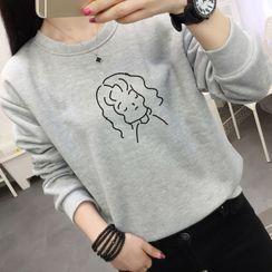 Manki - Face Print Sweatshirt