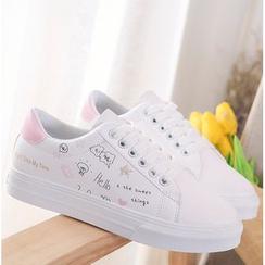 Satomi - 印花帆布休閒鞋