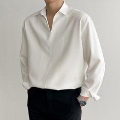 VEAZ - Long-Sleeve Plain Placket Shirt