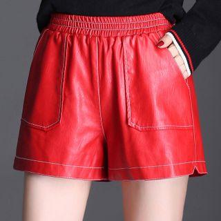 Feliphin - Faux Leather Shorts