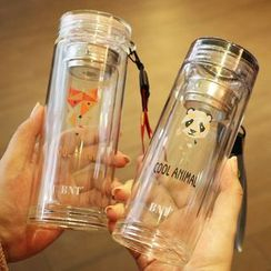 Cuplet - Animal Print Glass Drinking Bottle