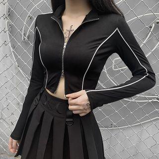 Solvor - 配色邊拉鏈夾克