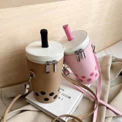 OUCHA - 珍珠奶茶拉链斜挎包
