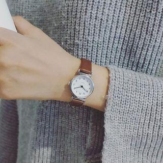 ONAJI - Faux-Leather Strap Watch