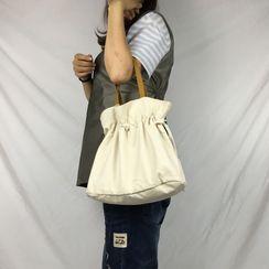 Libra - Drawstring Canvas Handbag