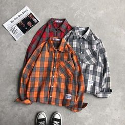 Filmas - Couple Matching Long-Sleeve Plaid Shirt