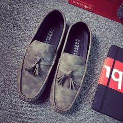 Solejoy - 仿麂皮流苏乐福鞋