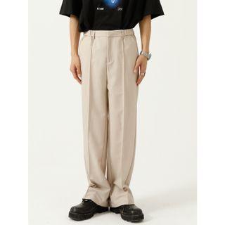 FAERIS - Plain Wide-Leg Dress Pants