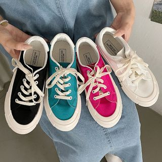 SouthBay Shoes - Lace Up Canvas Sneakers