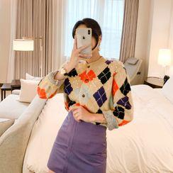 Yilda - Argyle Print Sweater