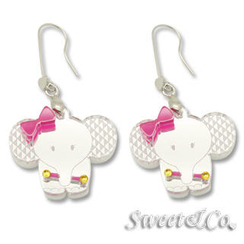 Sweet & Co.(スイートアンドカンパニー) - Sweet Rainbow Crystals Baby Elephant Earrings