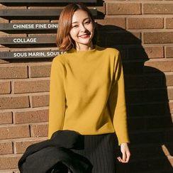 伊之戀 - 純色小高領毛衣