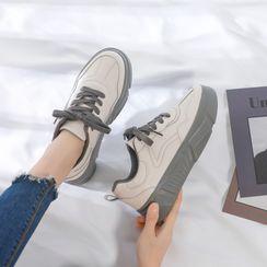 ZDLi - 插色系带休閒鞋