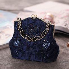 Moonflower - 水钻夹子边手提包