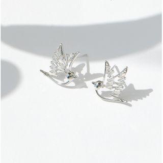 Zirajoy - 925 Sterling CZ Bird Stud Earring