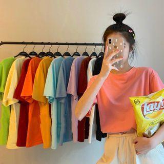 Closette - Short-Sleeve Plain T-Shirt