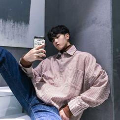 Real Boy(リアルボーイ) - Mock Two-Piece Gingham Shirt