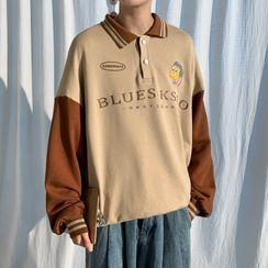 Breeson - 马球领卡通刺绣套衫