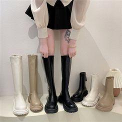 Vindler - Plain Platform Short Boots / Tall Boots