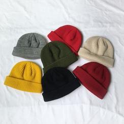 Heloi(ヘロイ) - 無地ヤーンビーニー帽