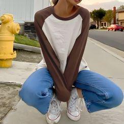 Sosana - 長袖插色寬鬆上衣