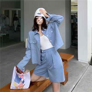 Jorkes - Plain Shirt / Wide Leg Dress Shorts