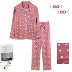Victorinaka - Pajama Set: Printed Shirt + Pants