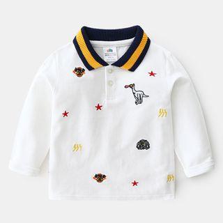 貝殼童裝 - 小童刺繡馬球衫