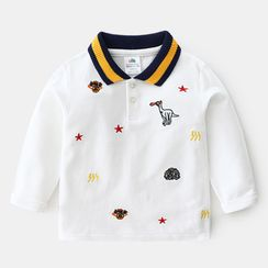 Seashells Kids - Kids Embroidered Polo Shirt