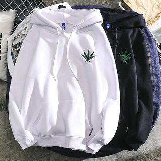 Dragondra - Leaf Embroidery Hoodie