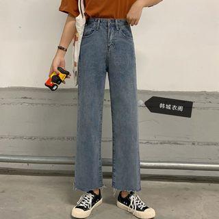 Clotizen - Crop Wide Leg Jeans