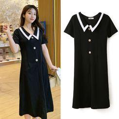NOA - Maternity Short-Sleeve Midi A-Line Dress