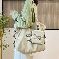 Miloes - Lettering Drawcord Tote Bag