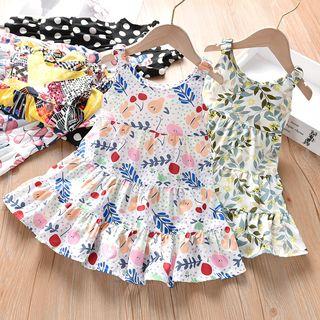 Shaneebabe - Kids Printed Sleeveless A-Line Dress